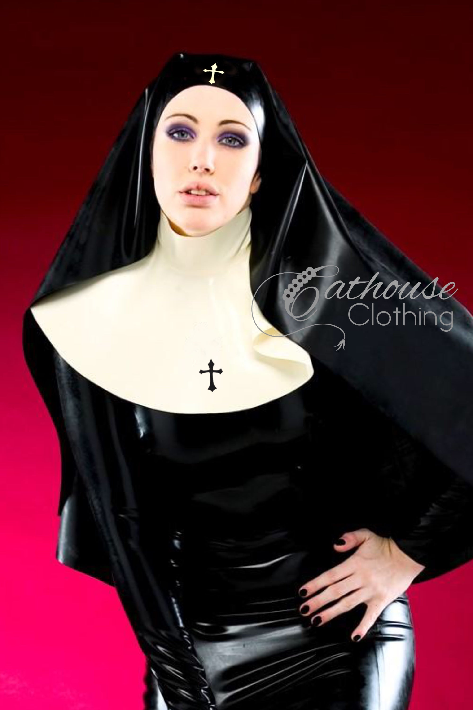 Latex nun outfit