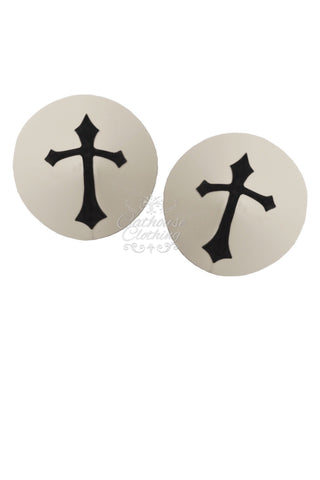 Latex nun nipple pasties