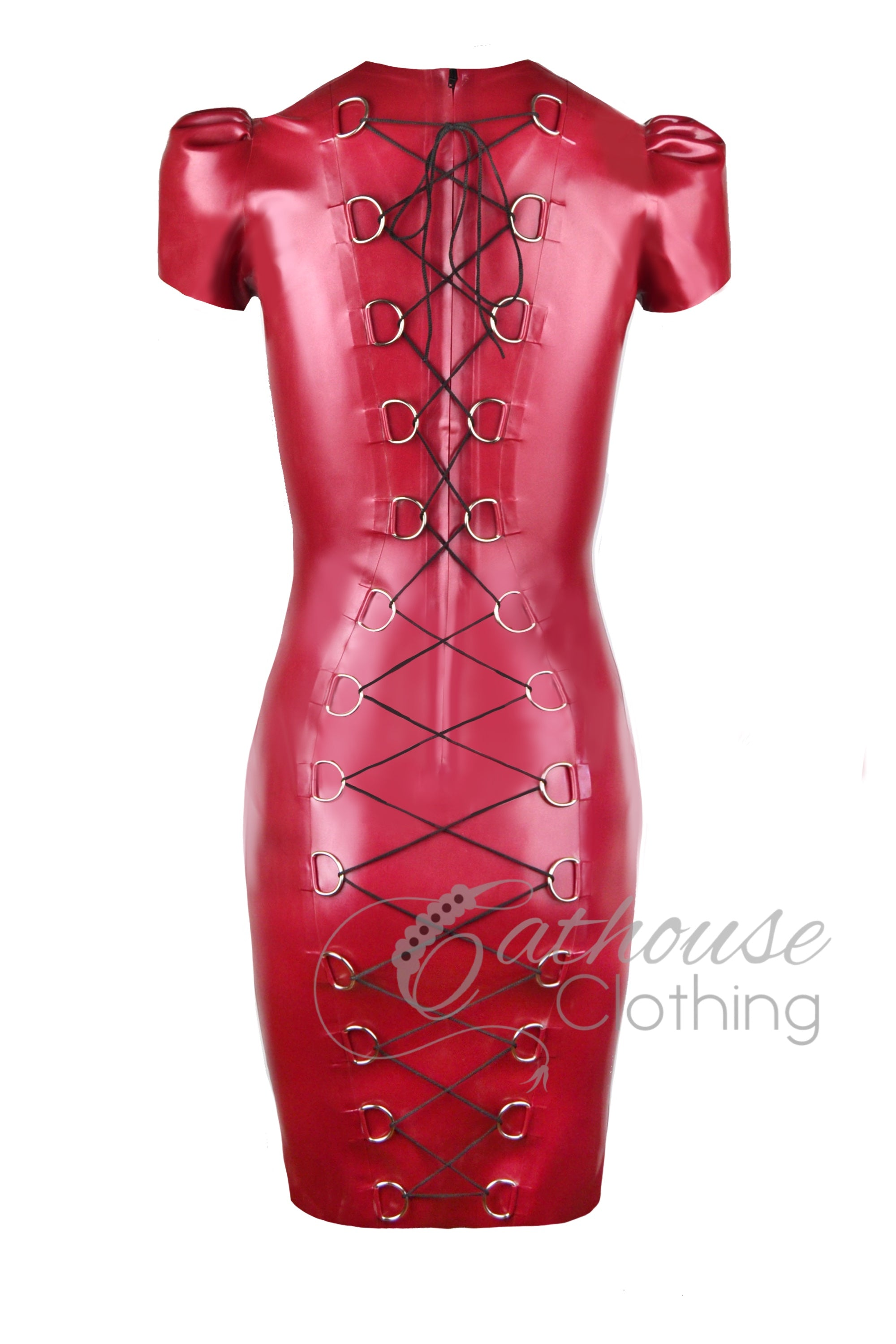 Empower laced back pencil dress