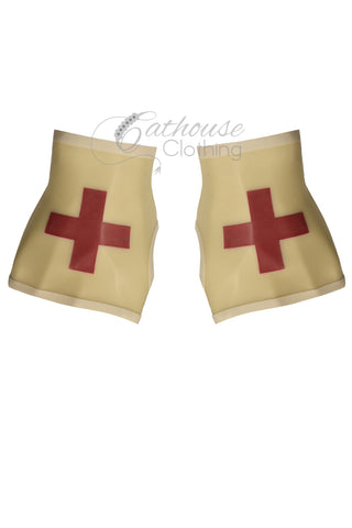 Translucent latex nurse gloves