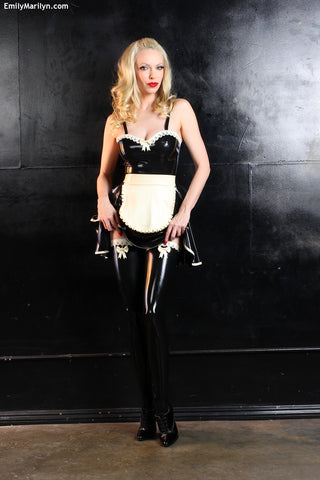Latex Adore bow stockings