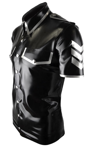 Men's latex Military chevron shirt