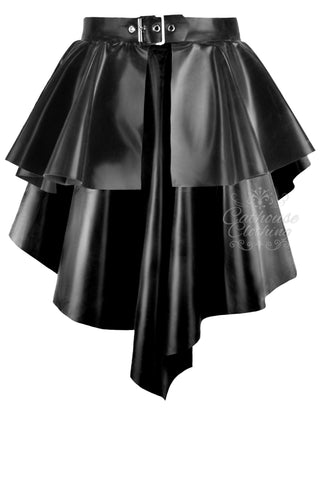 Latex fall hem peplum skirt/belt
