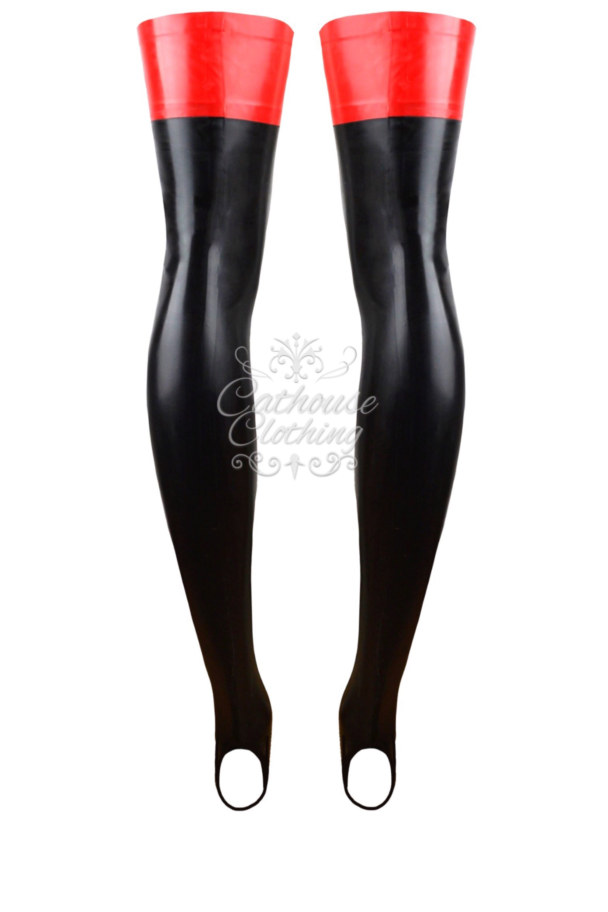 Latex footless stockings