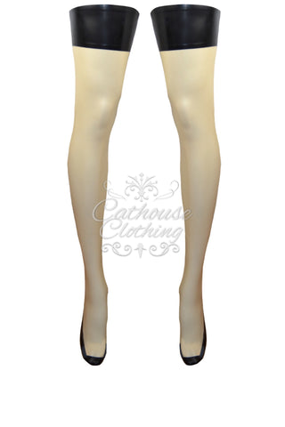 Latex Vintage style stockings