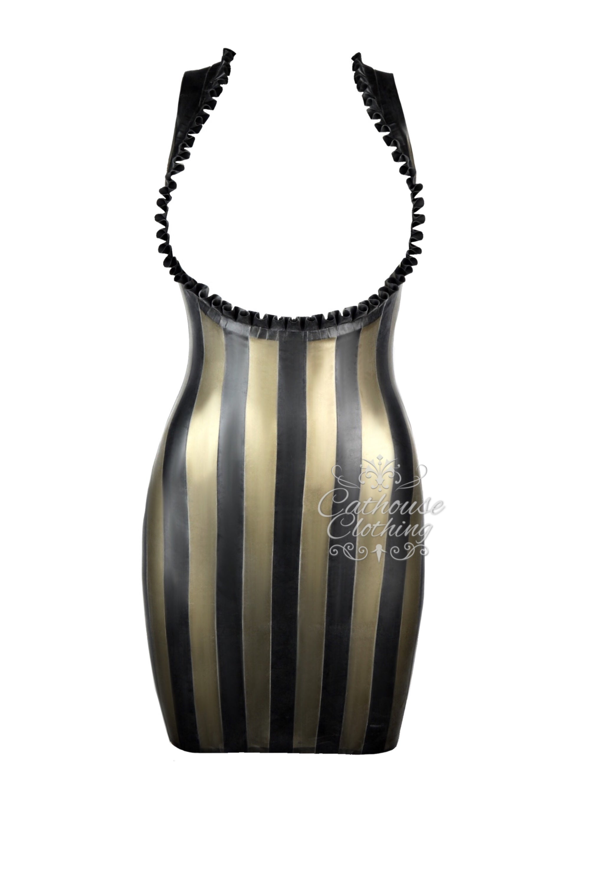 Latex topless stripe dress