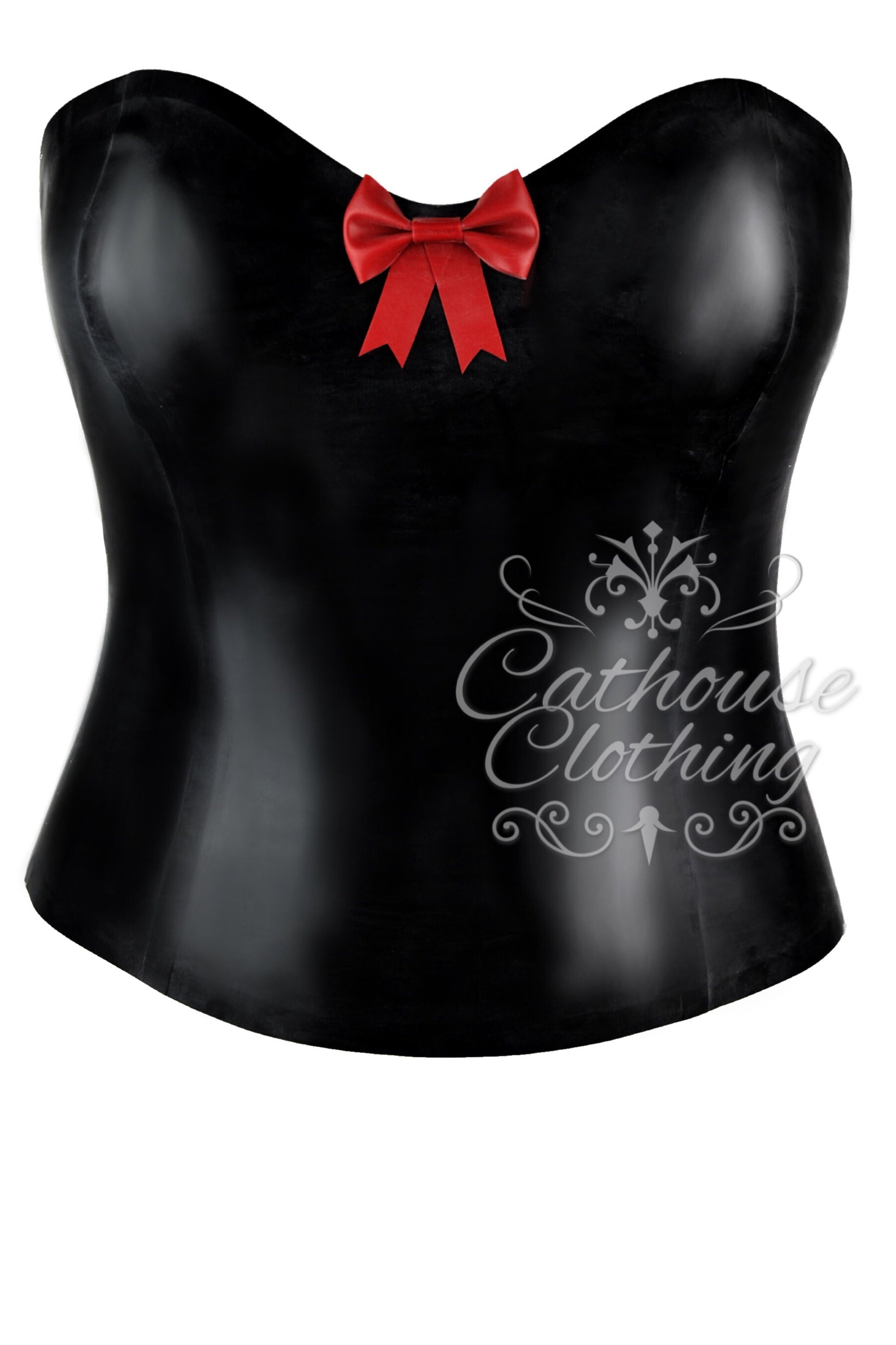 Latex bow bustier