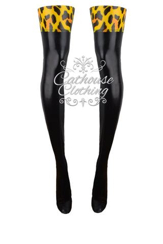 Latex Cheetah print stockings