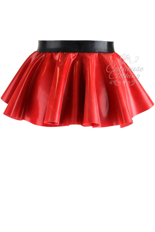Latex buckle peplum belt
