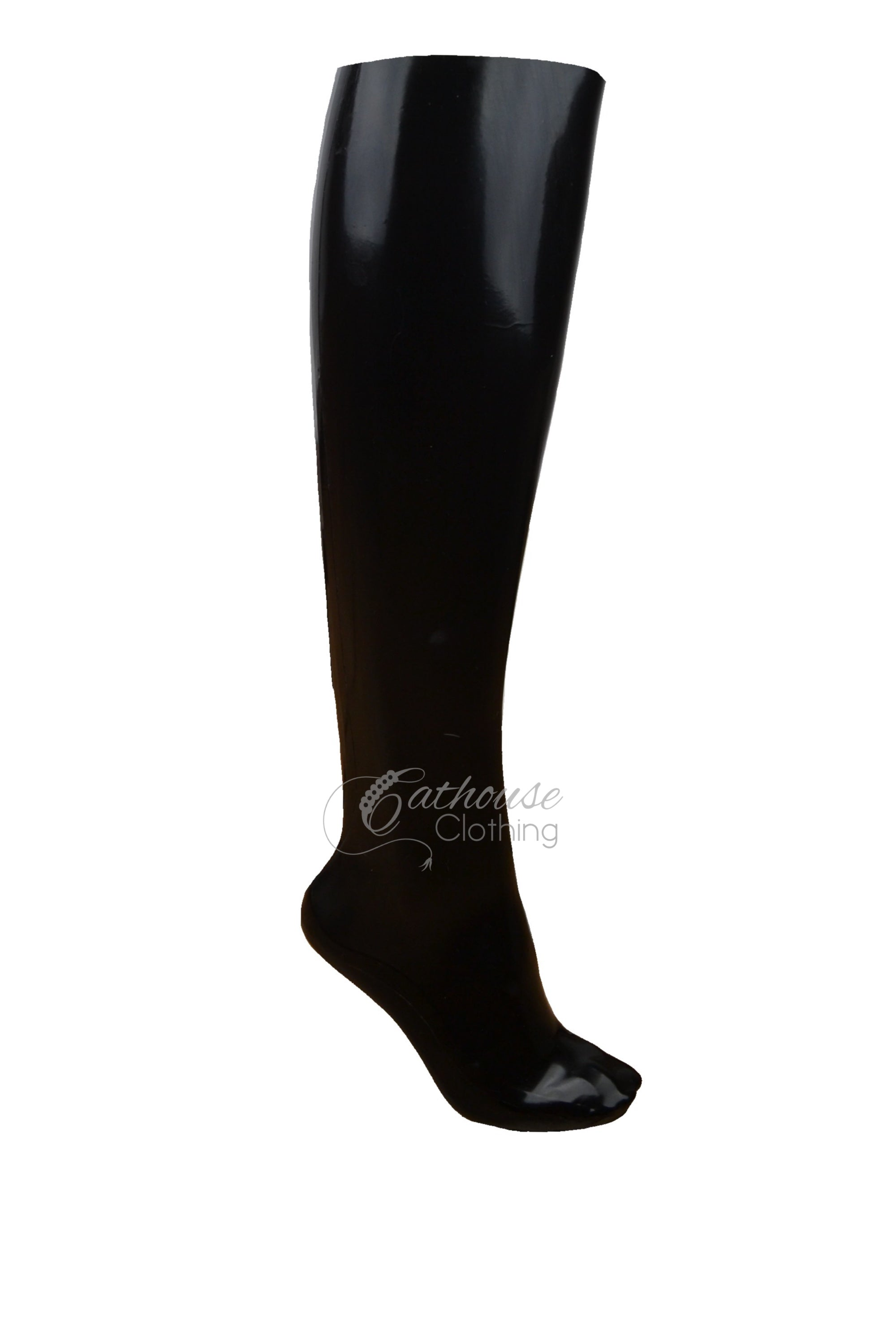 Latex Under Knee Socks