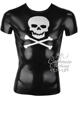 Men's latex skull T-shirt