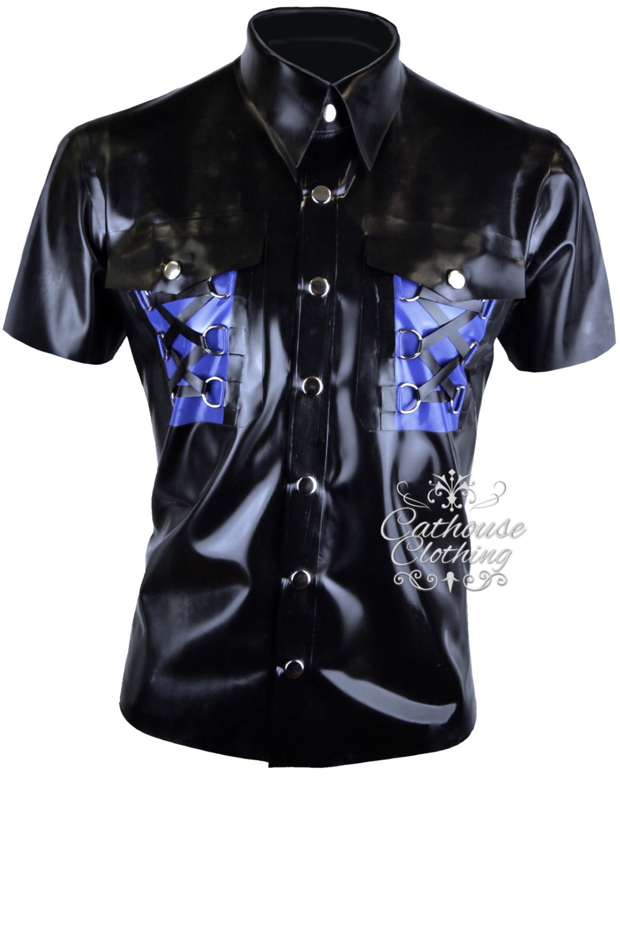 Men's latex Midnight shirt