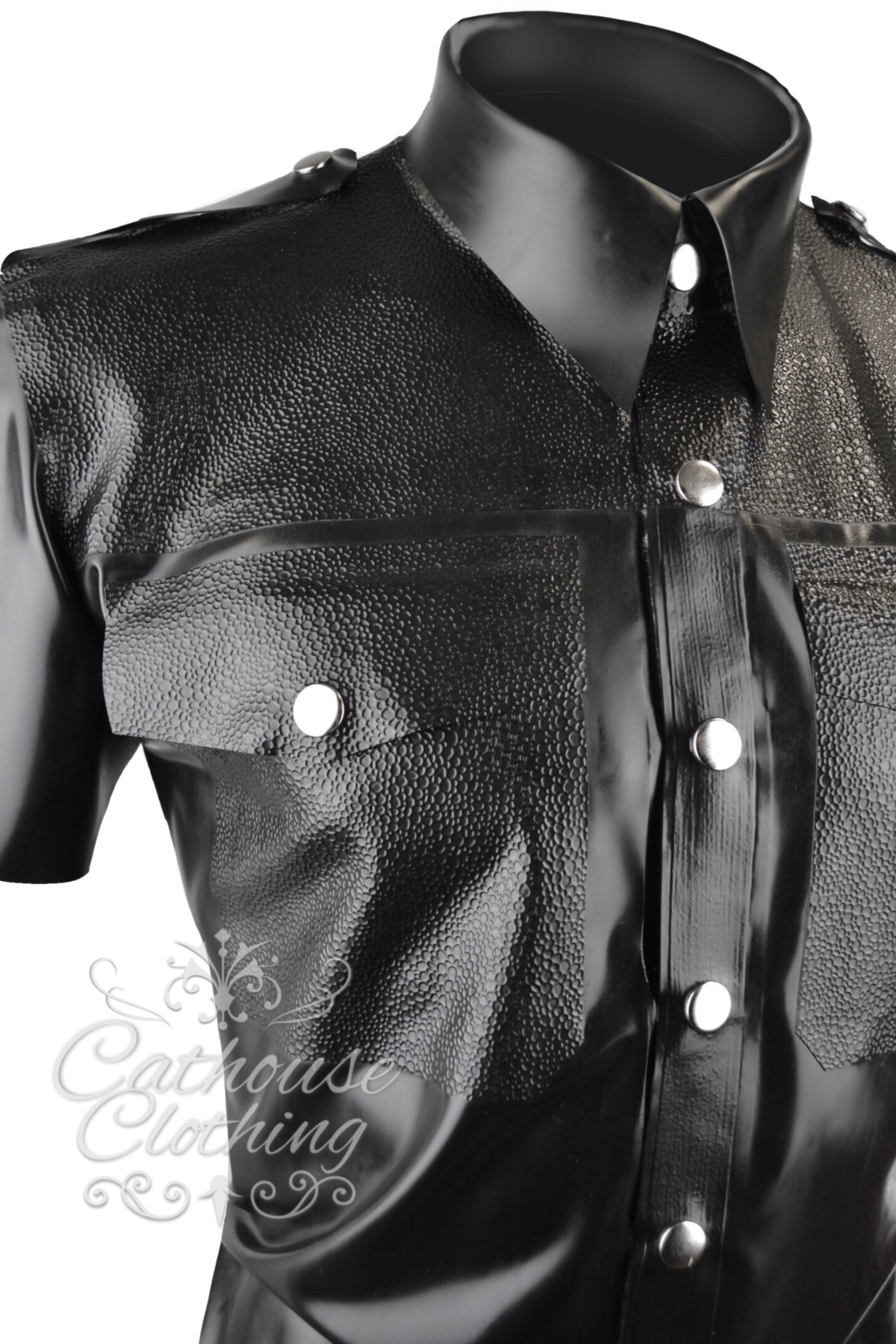 Men's latex Lizardskin shirt