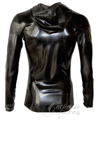 Men's latex zip hoodie