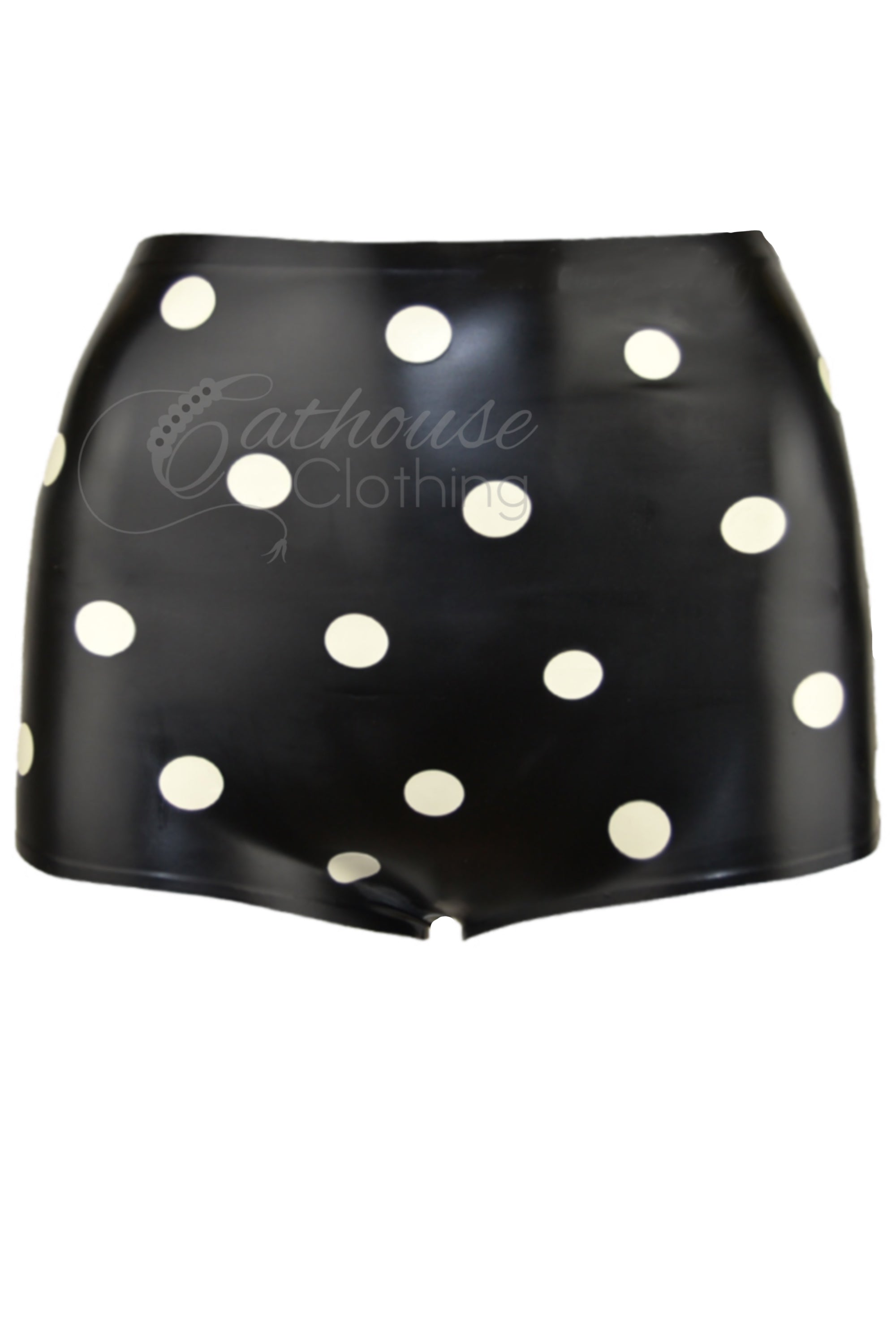 Polka dot latex knickers