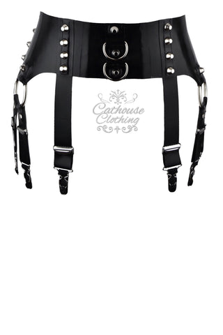 Mercury latex 8-strap suspender belt