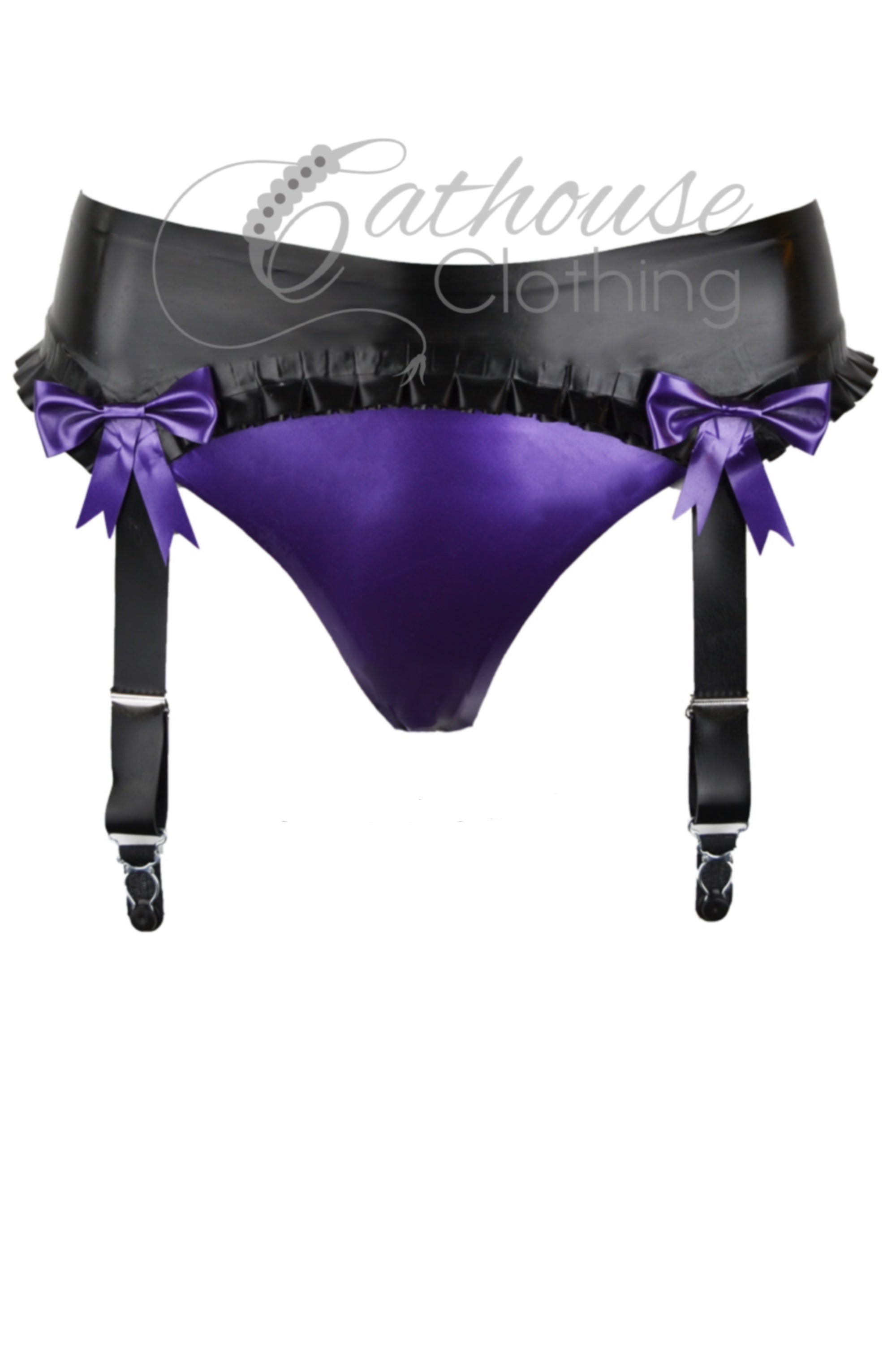 Latex suspender briefs