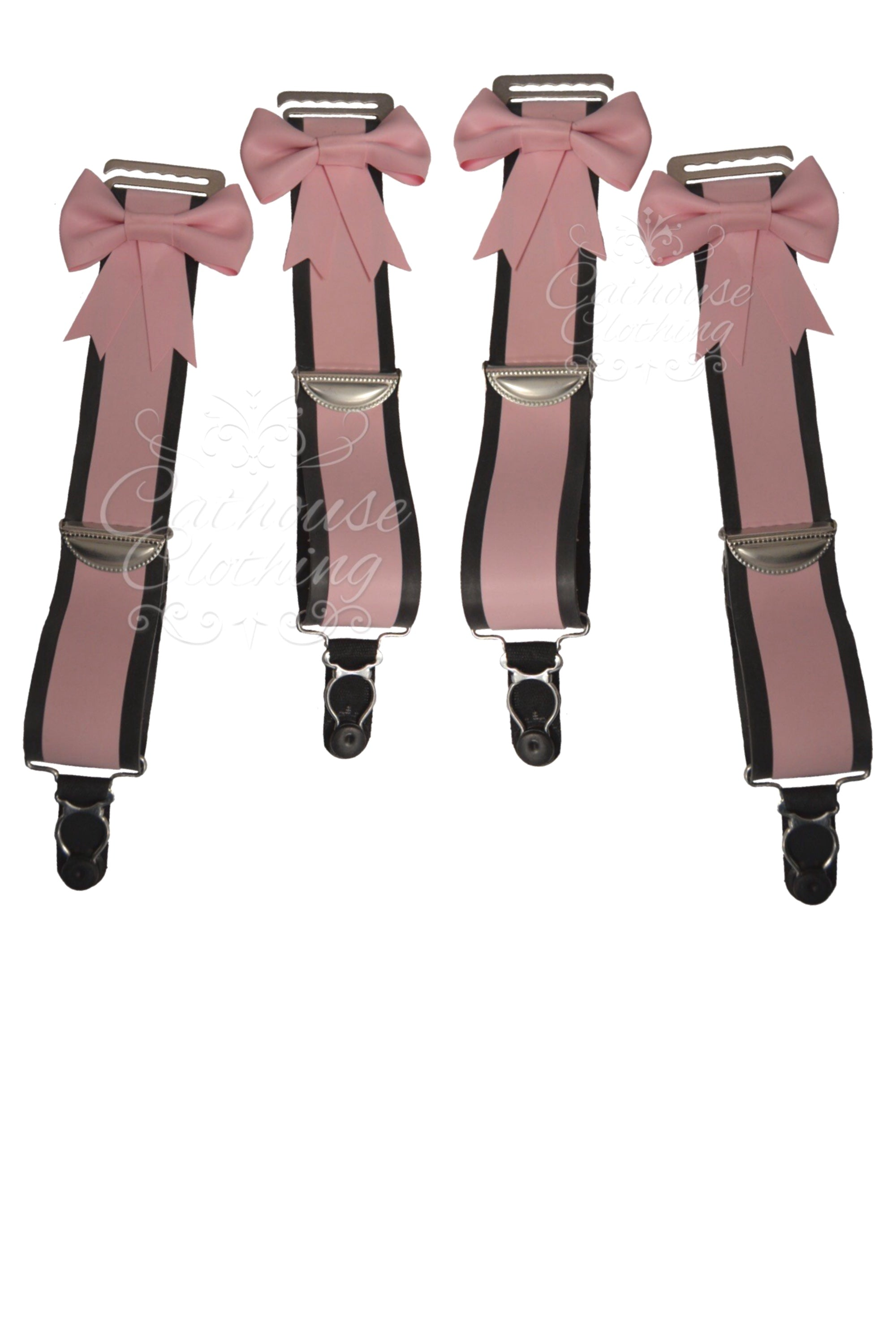 4 hook-on latex suspenders