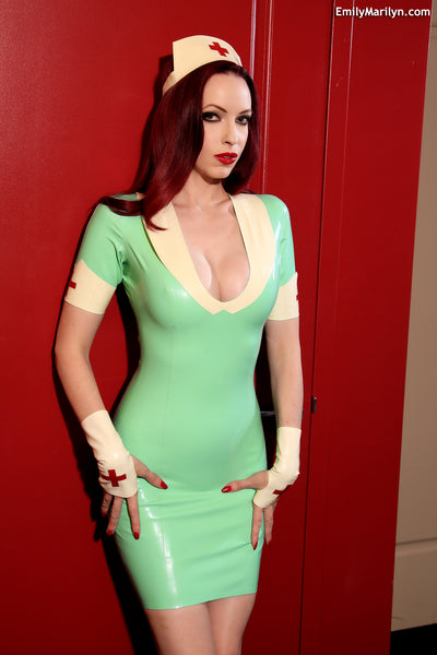 Latex nurse dress