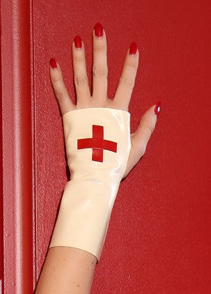 Latex nurse gloves