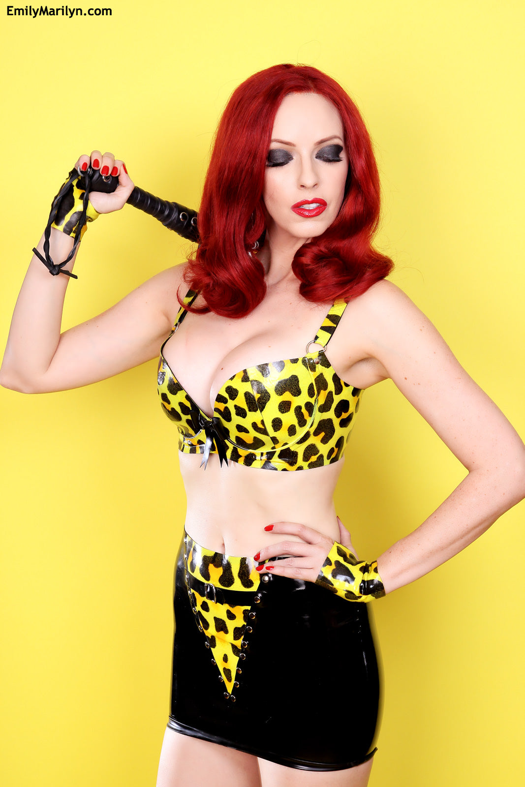 Cheetah latex push-up bra