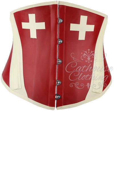 Latex nurse cincher corset