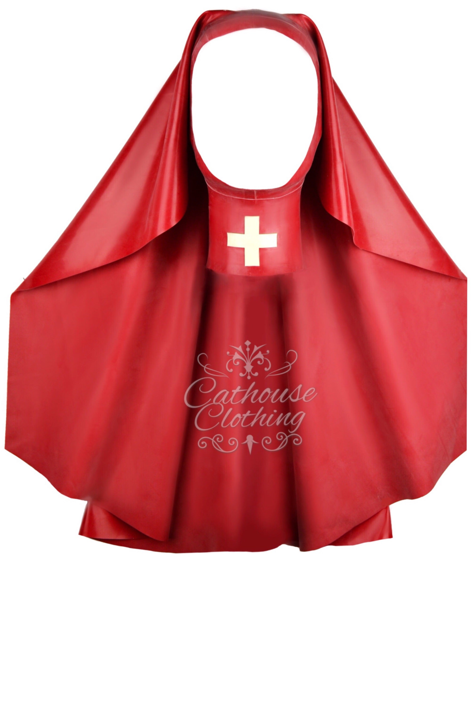 Latex Sister nurse hood