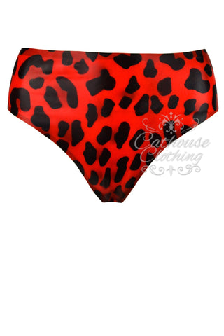 Latex cheetah briefs
