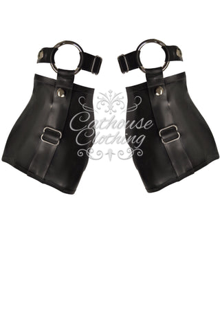 Latex short Goddess gloves
