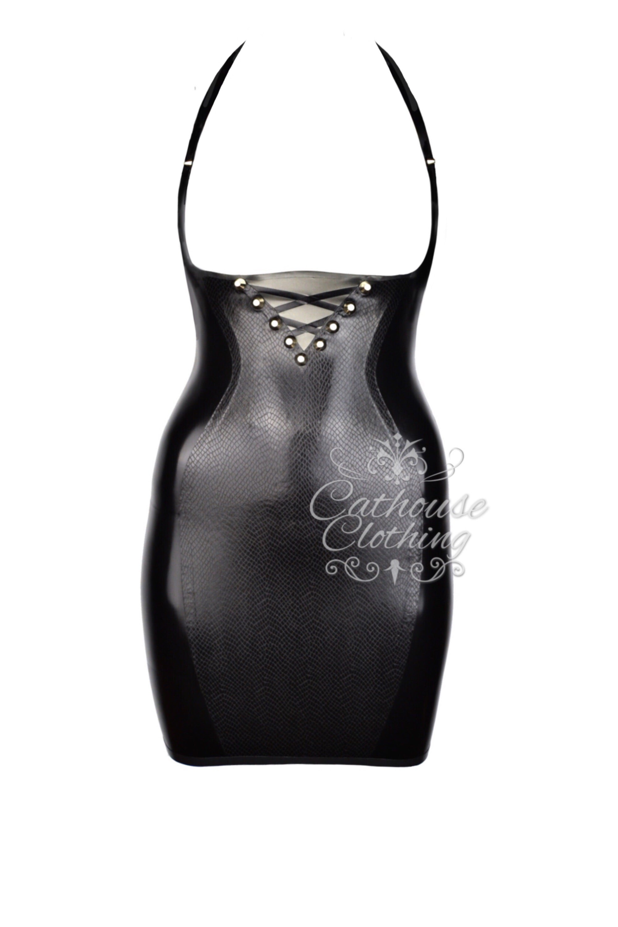 Latex topless Viper dress