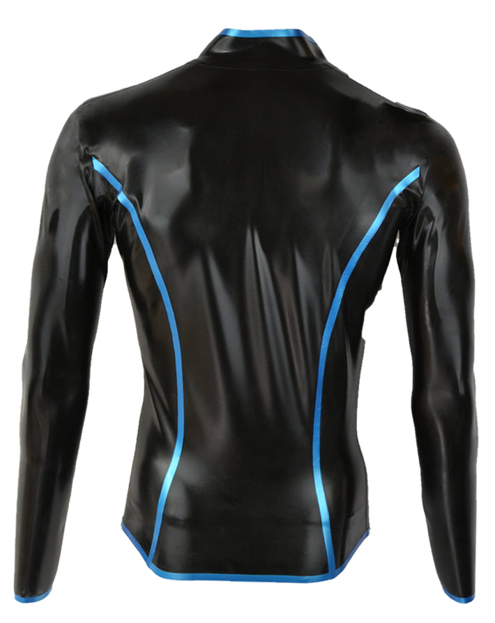 Men's long sleeved edged top