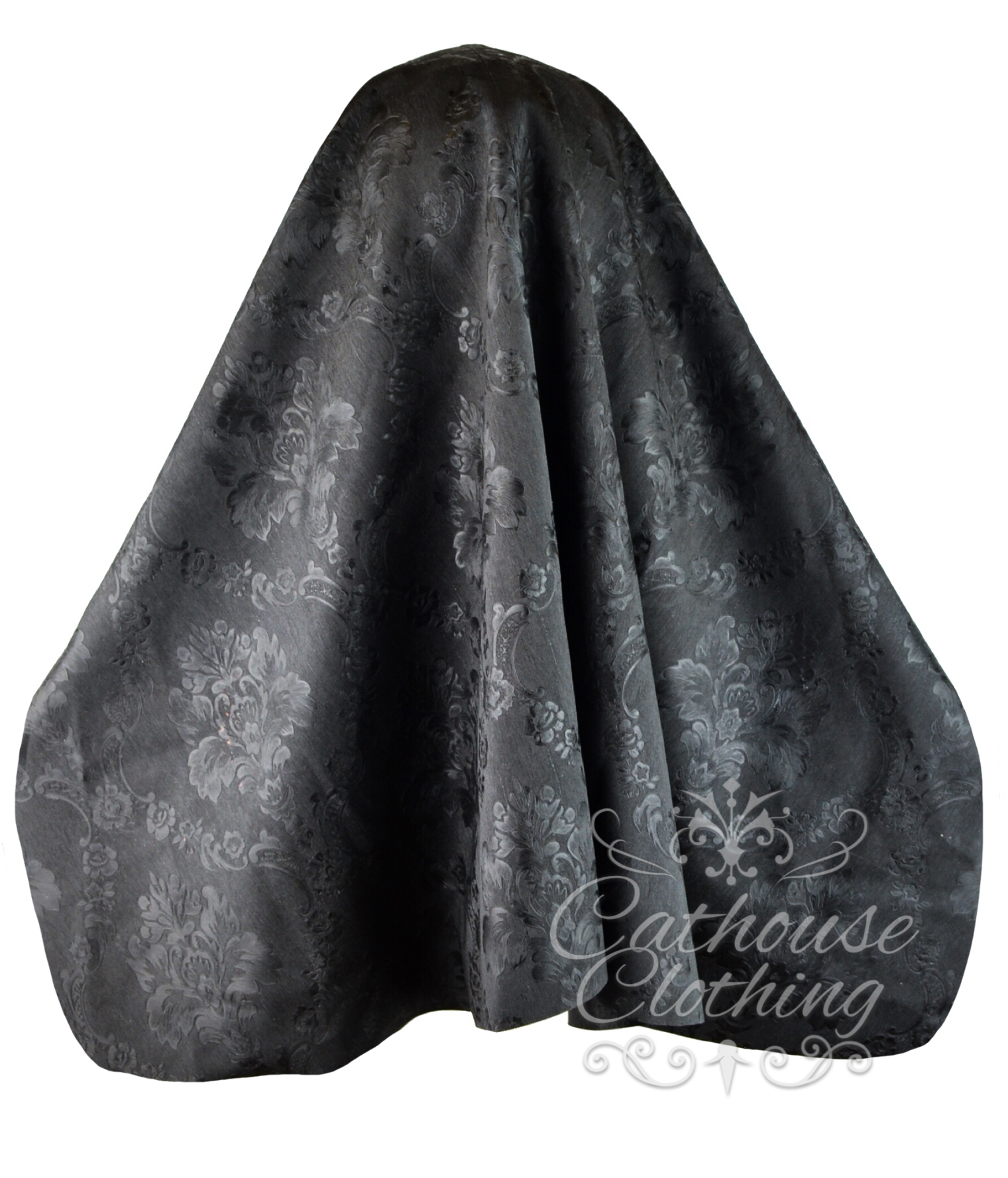 Baroque latex nun hood