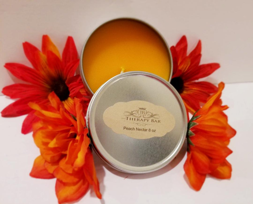 Peach Nectar Tin Candle 8 oz