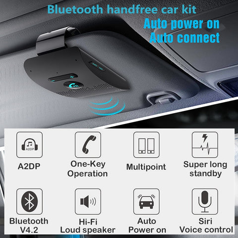 Bluetooth Handsfree Sun Visor Car Kit