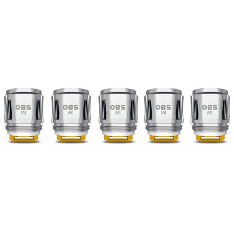 OBS Cube Replacement M1 Mesh Coil Head 0.2ohm (5-Pack)