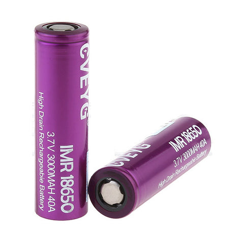 CVEYG IMR 18650 3.7V 3000mAh 40A Rechargeable Li-ion Battery (2-Pack)
