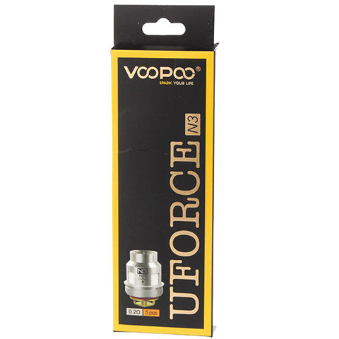 VOOPOO UFORCE Replacement N3 Triple Mesh Coil Head 0.2ohm (5pcs)