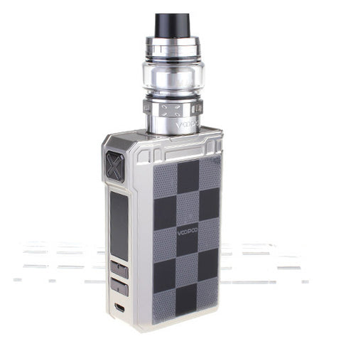 VOOPOO Alpha Zip 180W Box Mod + Maat Tank Kit 4ml - Silver Checkerboard