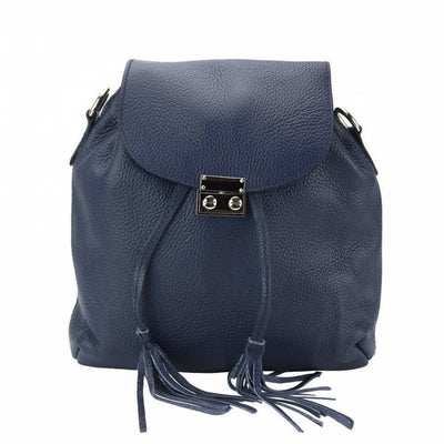 Damask Women Leather Backpack