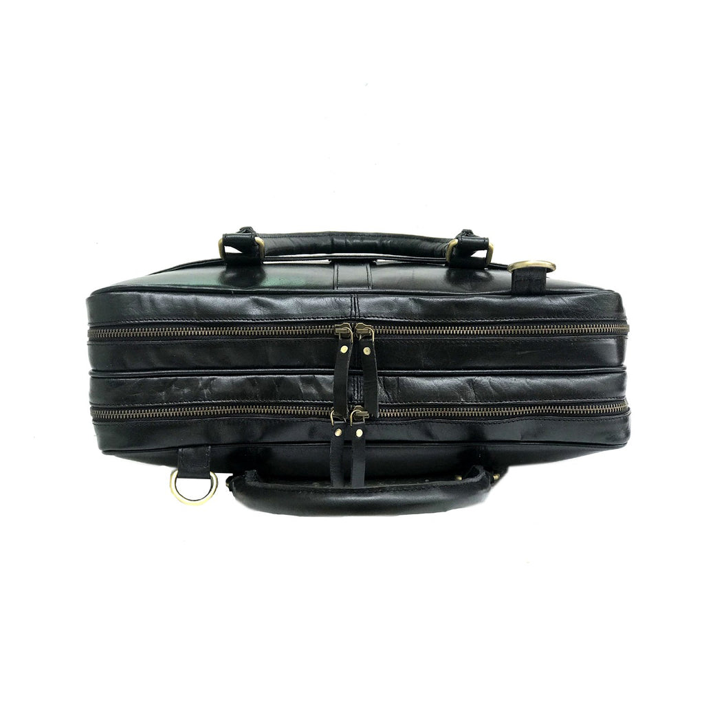 Genuine Leather Laptop Bag Black