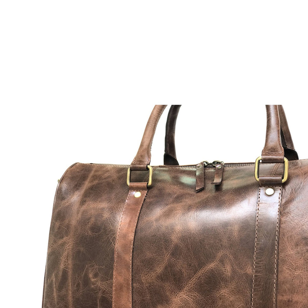 Clydesdale Brown Horse Leather Gym Bag