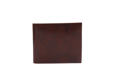 Camelide Snake Leather Wallet Brown 1