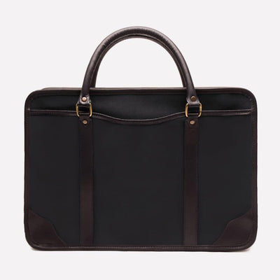 Women's Canvas Briefcase, Black