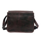 Men Dark Brown Genuine Leather Messenger Bag