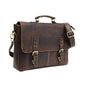 Men Genuine Leather Laptop Bag Brown