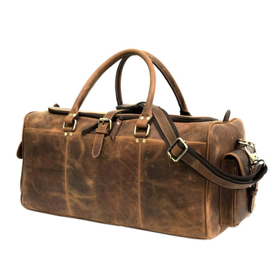 Haflinger Brown Genuine Leather Weekend Bag