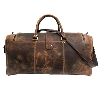Hanoverian Brown Genuine Leather Weekend Bag
