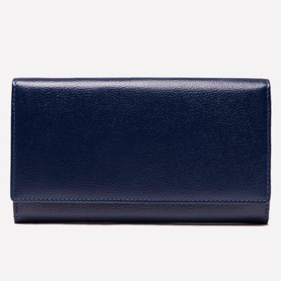 Women's Flap Over Purse Marine Blue