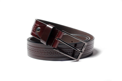 Men's Array Leather Belt Brown 1