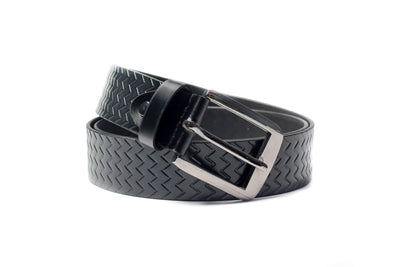 Men's Palladium Lines Leather Belt Black 1